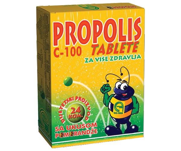 PROPOLIS C -100 BEZ ŠEĆERA 24 patile