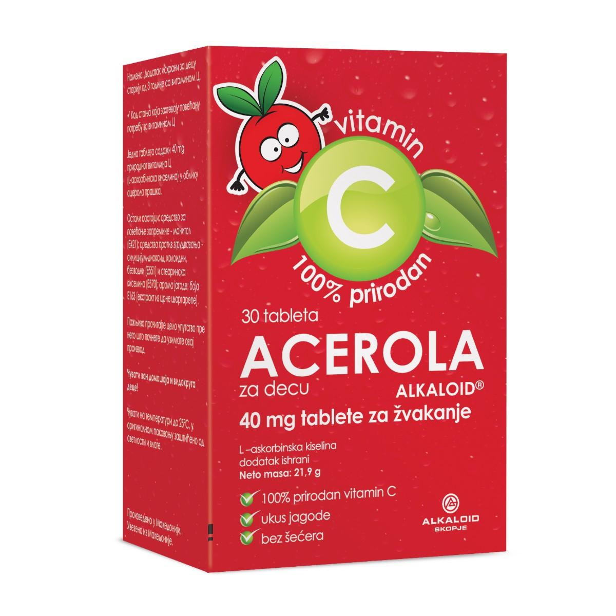 ACEROLA tableta 30x40 mg