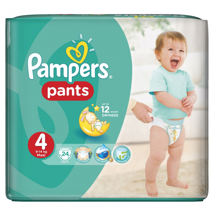PAMPERS PANTS BR.4 9-14Kg A24