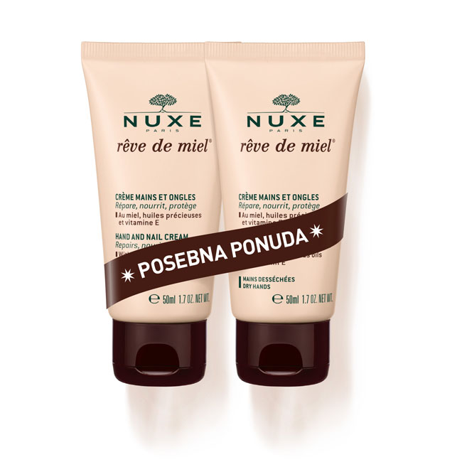 NUXE REVE DE MIEL KREMA ZA RUKE I NOKTE 2X50ML