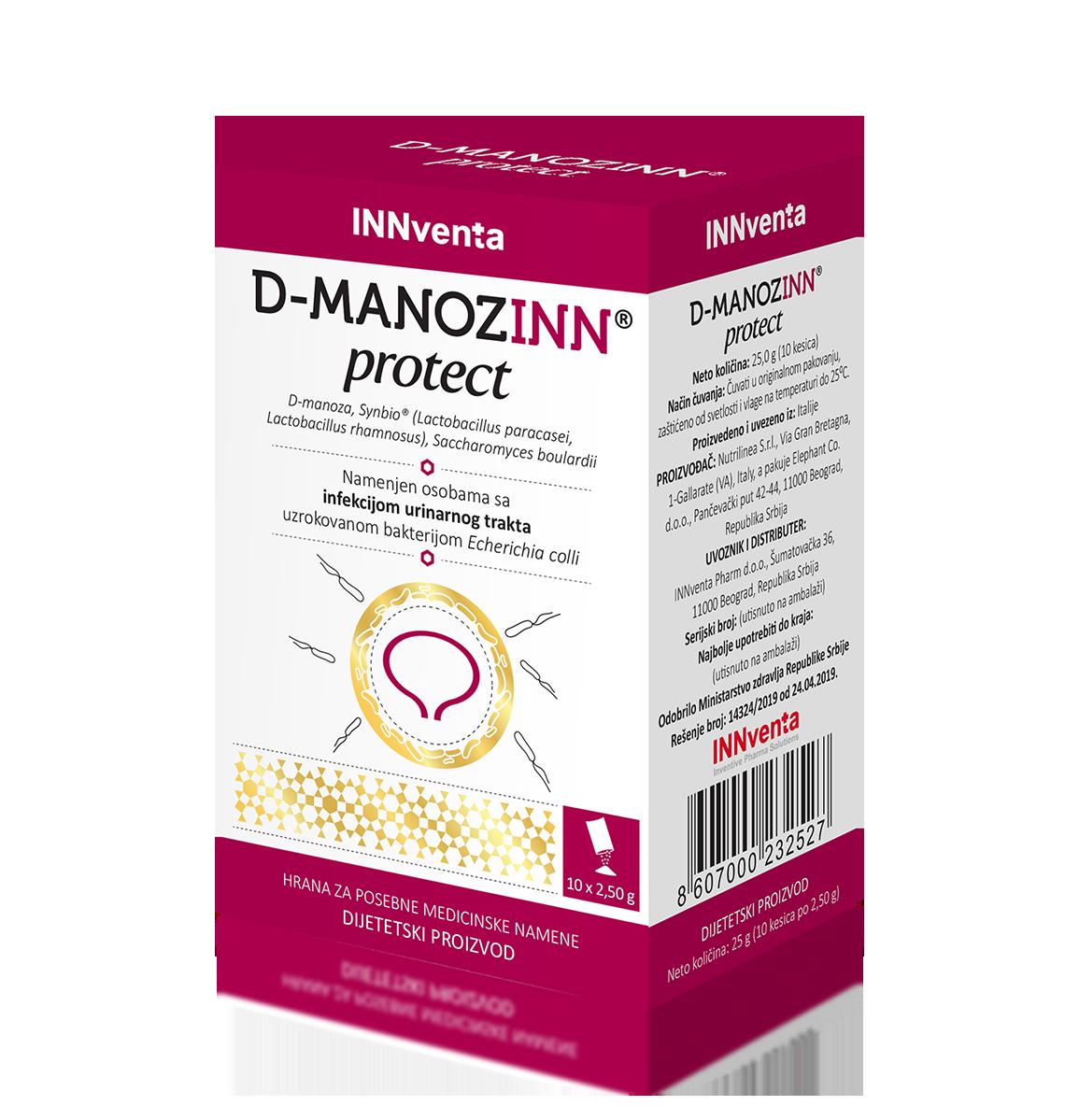 D-MANOZINN PROTECT 10 KESICA PO 2.5G