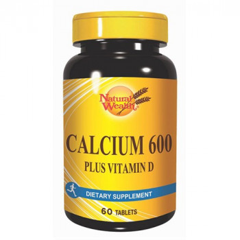 NATURAL WEALTH CALCIUM 600mg + VITAMIN D 60 tableta