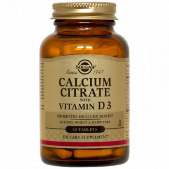 SOLGAR Ca CITRAT + VITAMIN D3 60 tableta