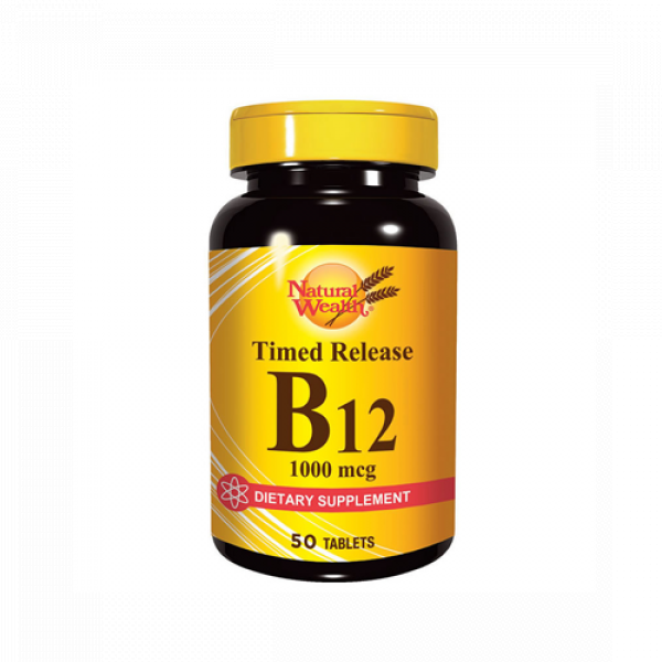 NATURAL WEALTH VITAMIN B12 tablete 50x1000mcg