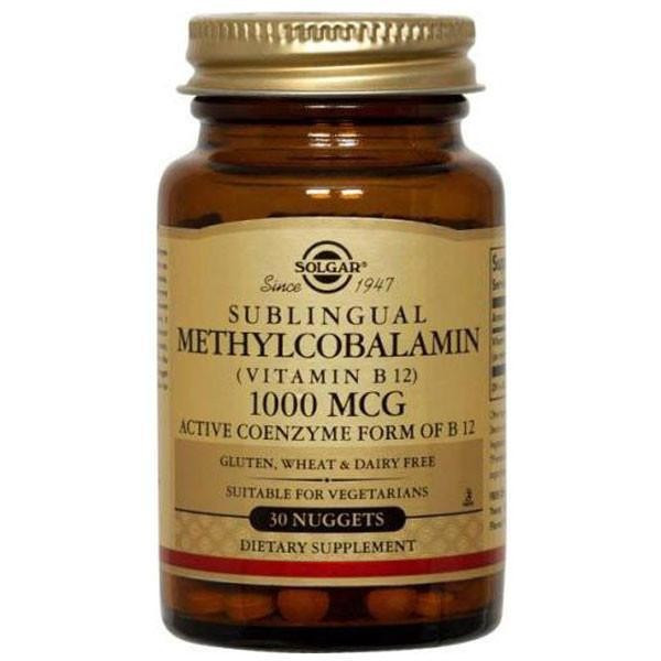 SOLGAR METHYLCOBALAMIN B12 30 tableta