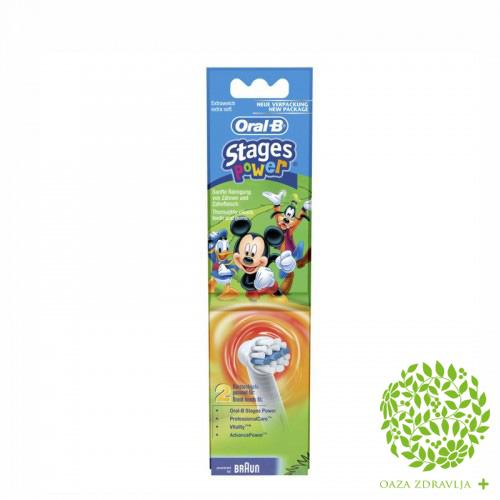 ORAL-B GLAVA ZA ELEKTRIČNU ČETKICU STAGES POWER KIDS 2 kom.