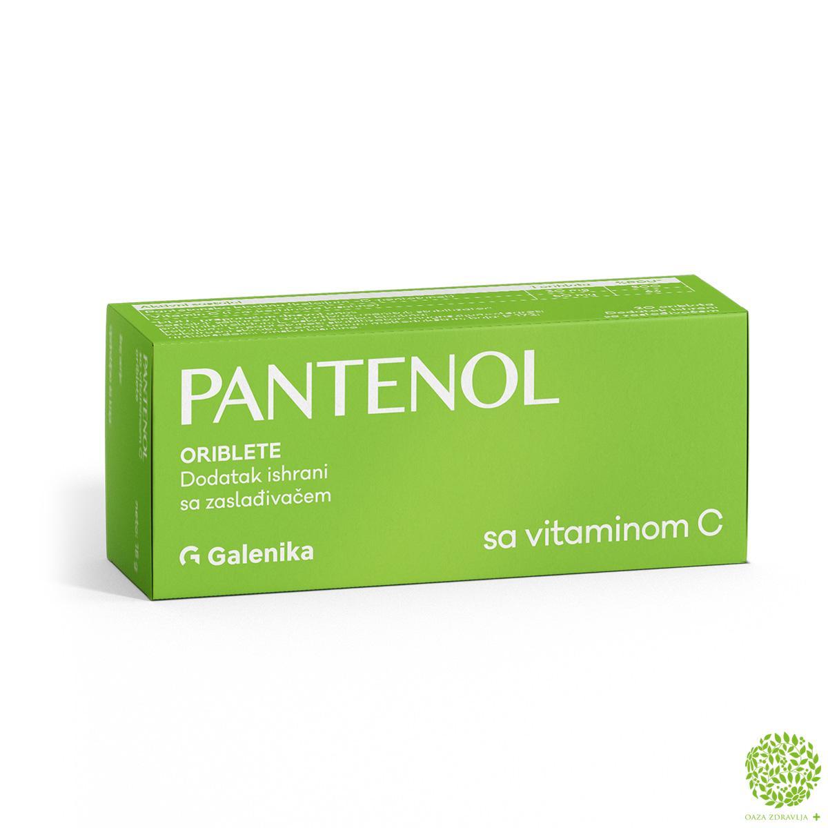 PANTENOL + VITAMIN C ORIBLETE 20 kom.