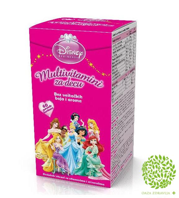 DISNEY PRINCESS MULTIVITAMINSKE BOMBONE