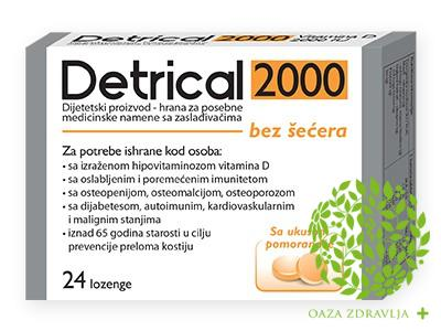 DETRICAL 2000 LOZENGE POMORANDŽA 24 KOM