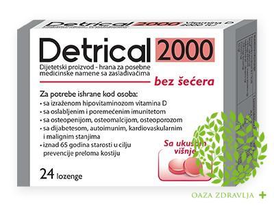 DETRICAL 2000 LOZENGE VIŠNJA 24 KOMADA